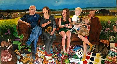 Painting - Family by Michelle Deyna-Hayward
