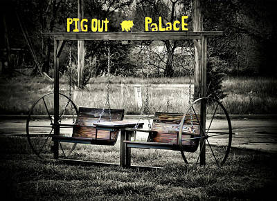 Pig Out Palace Art Print by Karen Scovill