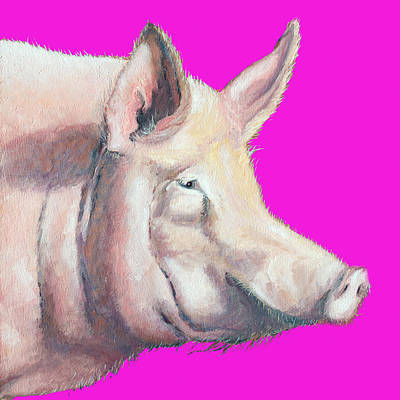 Royalty-Free and Rights-Managed Images - Pig painting - Kitchen Art by Jan Matson