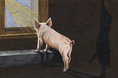 Swine Painting - Free Me by Twyla Francois