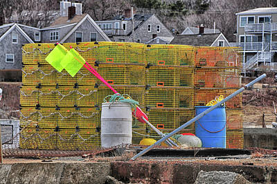 Photograph - Pigeon Cove Lobster Traps by Mike Martin