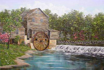 Pigeon Forge Mill Art Print by Marveta Foutch