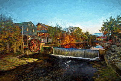 Photograph - Pigeon Forge Old Mill by Dave Bosse