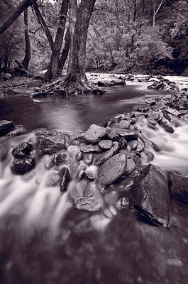 Pigeon Forge River Great Smoky Mountains Bw Original