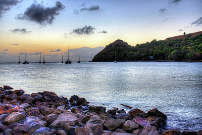 Photograph - Pigeon Island Saint Lucia At Sunset by Toby McGuire