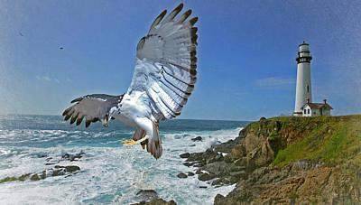 Rocky Digital Art - Pigeon Lighthouse by Jeff Burgess