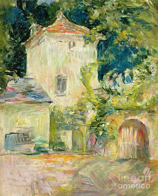 Pigeon Loft At The Chateau Du Mesnil Art Print by Berthe Morisot