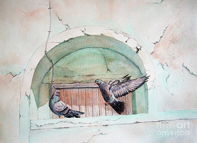Pigeon Perch Art Print