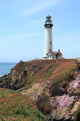 Photograph - Pigeon Point Lighthouse 2 by Lou Ford