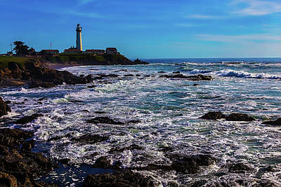 Pigeon Point Lighthouse Coastline Art Print