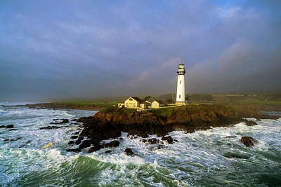 Print featuring the photograph Pigeon Point Lighthouse by Evgeny Vasenev