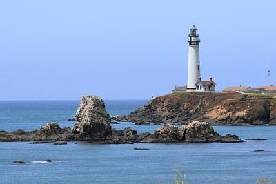 Pigeon Point Lighthouse Art Print by Lou Ford