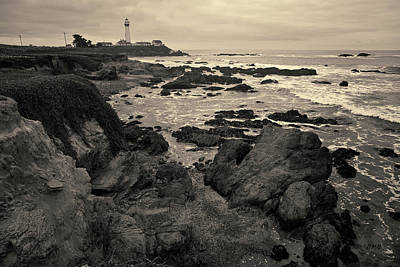 Photograph - Pigeon Point Lighthouse Toned by David Gordon