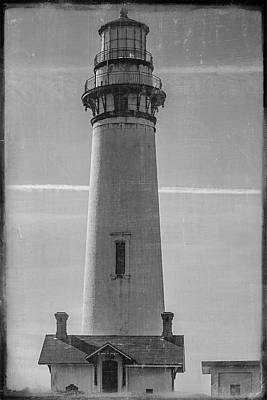 Photograph - Pigeon Point Lighthouse Vintage by Teresa Wilson