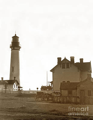 Photograph - Pigeon Point Lighthstation Was Built In 1871  Photo Circa 1908 by California Views Mr Pat Hathaway Archives