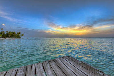 Photograph - Pigeon Point Sunset, Tobago by Nadia Sanowar
