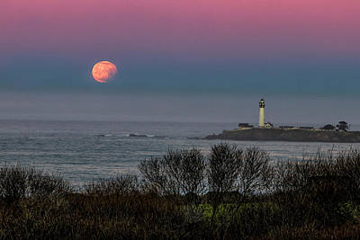Photograph - Pigeon Point Supermoon by Wes Jimerson