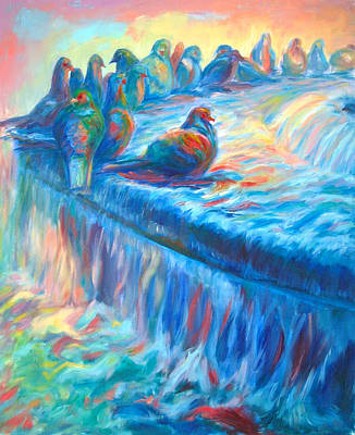 Pigeon Symphony Art Print