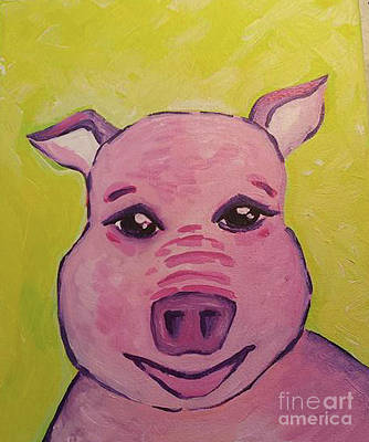 Piggies Painting - Piggie Piggie by Susan Peterson