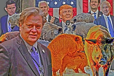 Piggy Farm Art Print by Lee Balan