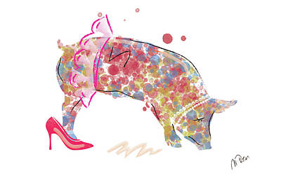 Digital Art - Piggy by Mihaela Pater