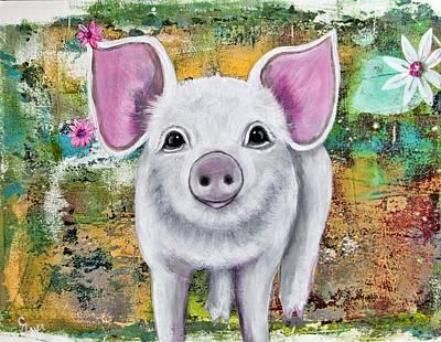 Wall Art - Painting - Piggy Pie by Carol Iyer