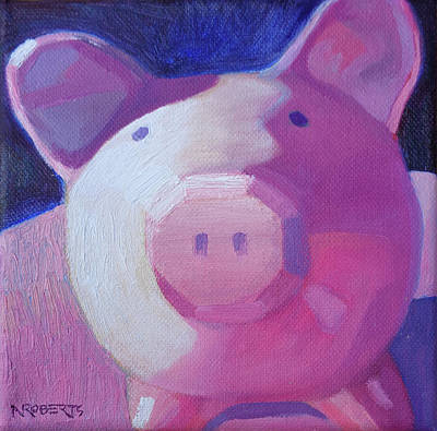 Painting - Piggy's Selfie by Nancy Roberts