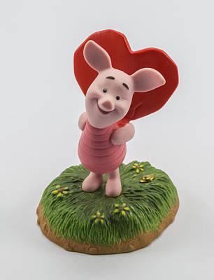 Secret Admirer Photograph - Piglet Loves You by Greg Thiemeyer