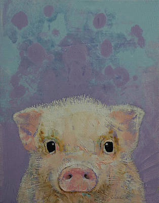 Piglets Painting - Piglet by Michael Creese