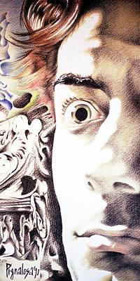Editoria Drawing - Pignalosa Selportrait by Ciro Pignalosa