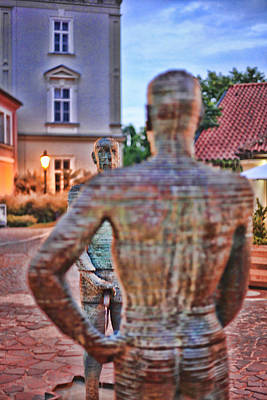 James Bond Photograph - Pi$$ing Contest - Prague by James Bond