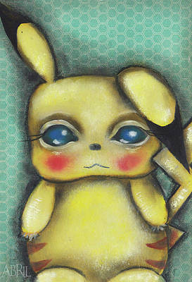Painting - Pikachu  by Abril Andrade Griffith