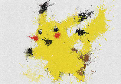 Pokemon Painting - Pikachu by Miranda Sether
