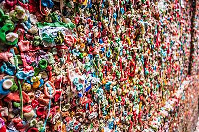 Photograph - Pike Market Theater Gum Wall by Alex Grichenko