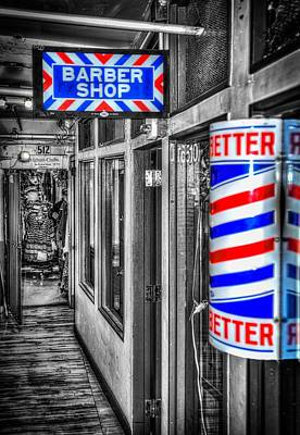 Photograph - Pike Place Barber Shop by Spencer McDonald