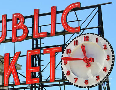 Photograph - Pike Place Clock  2398 B by Jack Schultz