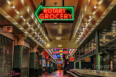 Photograph - Pike Place Market After Hours by John Roberts