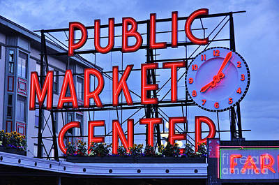 Photograph -  Pike Place Market by Allen Beatty