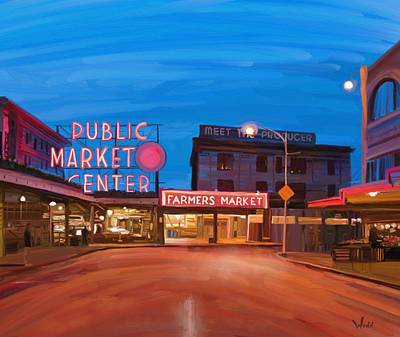 Painting - Pike Place Market by Brett Winn