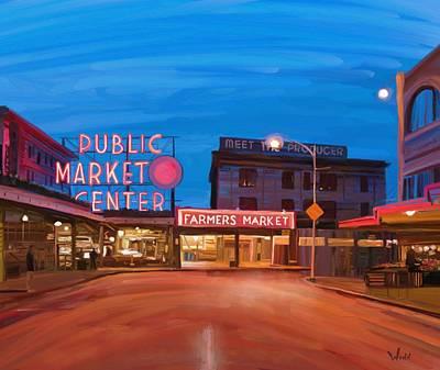 Painting - Pike Place Market by Brett Winn