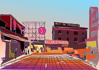 Digital Art - Pike Place Market by Dan McGibbon