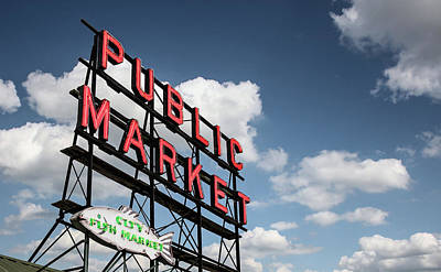 Art Print featuring the photograph Pike Place Market by Ed Clark
