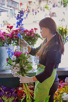 Photograph - Pike Place Market - Flower Vendor by Nikolyn McDonald