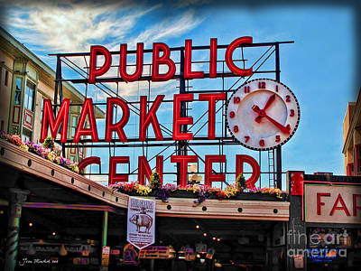 Photograph - Pike Place Market by Joan  Minchak