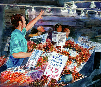 Pike Place Market Art Print by Ron Stephens