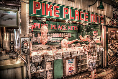 Photograph - Pike Place Nuts by Spencer McDonald