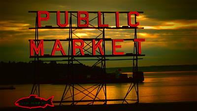 Photograph - Pike Place Public Market by Eddie G