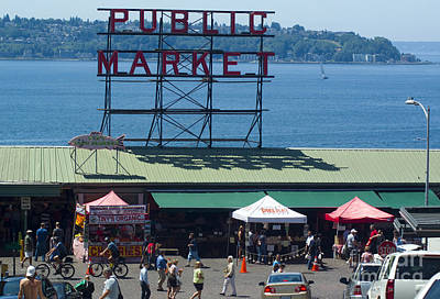 Photograph - Pike Place Public Market by Louise Magno