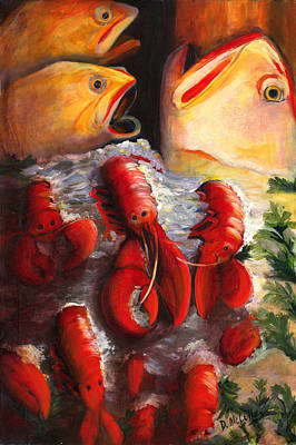 Pike Street Fish Art Print by Debbie McCulley
