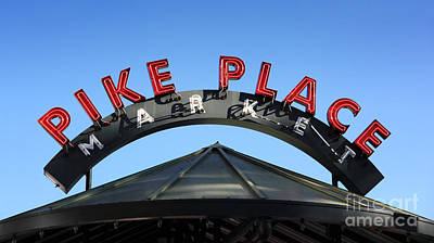 Photograph - Pike Street Market Sign by Peter Simmons